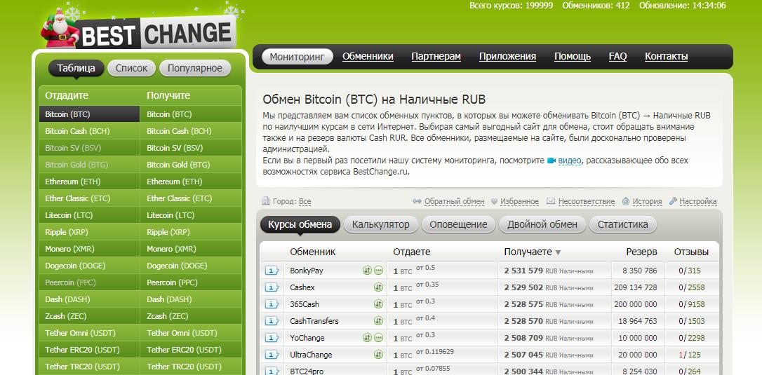 обмен биткоин на рубли в bestchange