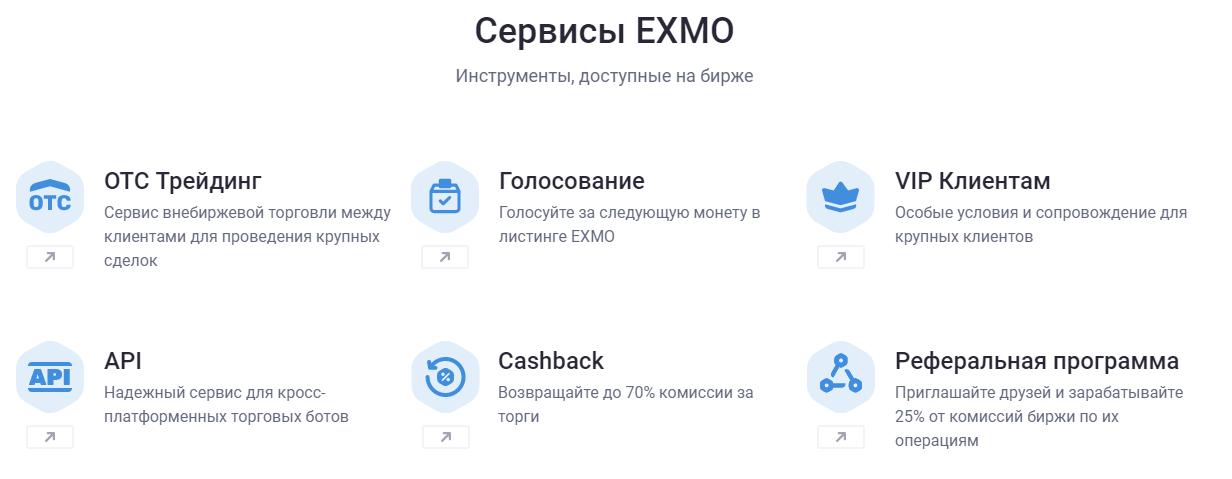 возможности EXMO.COM